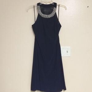 Never worn SCARLETT navy lined evening dress